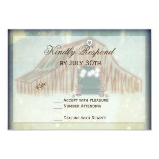 Rustikale Land-Scheunen-Hochzeit UAWG Karten Karte