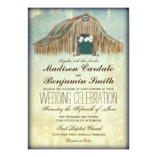 Rustikale Land-Scheunen-Hochzeits-Einladungen Karte
