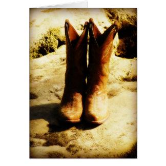Rustikale Land-Western-Cowboystiefel im Karte