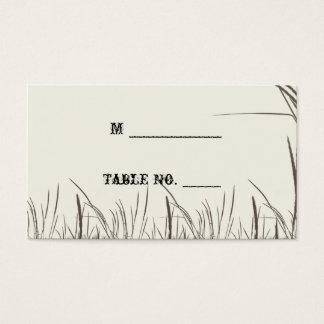 Rustikale Land-Wiesen, die Platzkarten Wedding Visitenkarte