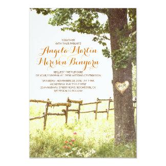 rustikale Landherzbaum-Hochzeitseinladung Einladungen