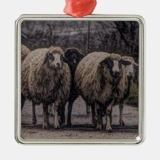 Rustikale Landstraßen-Ranchbauernhofherde der Silbernes Ornament