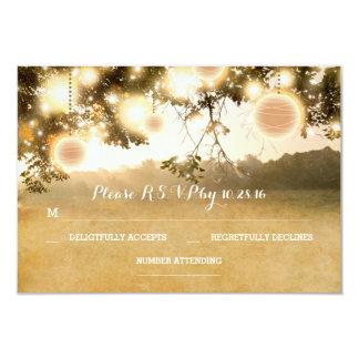 Rustikale Laternen-romantische Hochzeit 8,9 X 12,7 Cm Einladungskarte