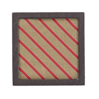 Rustikale Leinwand-Zuckerstange Kiste