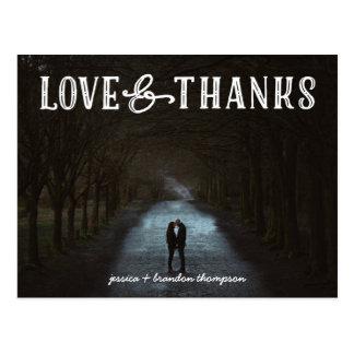 Rustikale Liebe und Dank, die Foto-Postkarten Postkarten