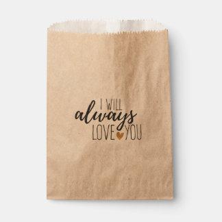 Rustikale Liebe zitieren Sie Wedding Brautparty Geschenktütchen