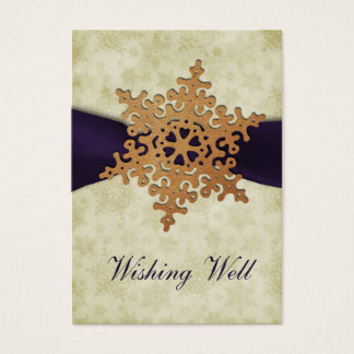 rustikale lila Schneeflocke, die wohle Karten
