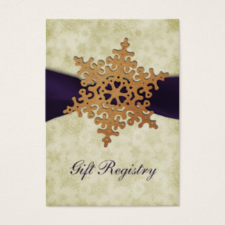 rustikale lila Schneeflocken Geschenkladen Karten