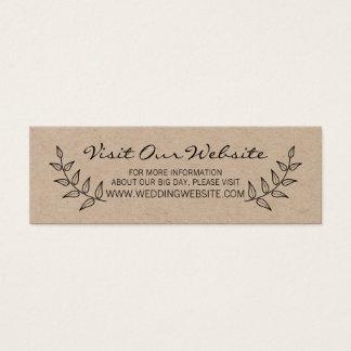 Rustikale Lorbeer, die Website Wedding sind Mini Visitenkarte