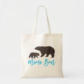 Rustikale Mamma-und Baby-Bärn-Taschen-Tasche Budget Stoffbeutel