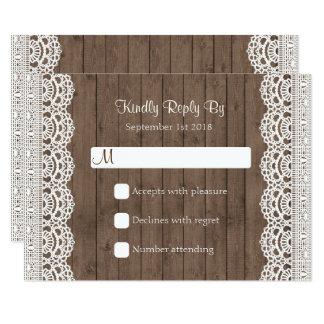 Rustikale Maurer-Glas-Hochzeit UAWG Antwort 8,9 X 12,7 Cm Einladungskarte