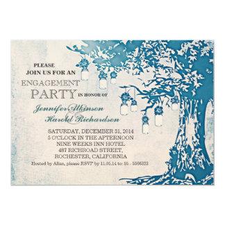 Rustikale Maurerglas-Baum-Verlobungs-Party 12,7 X 17,8 Cm Einladungskarte