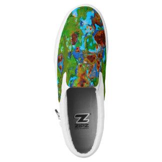 Rustikale Metallschalen-FarbeVintager Grunge Slip-On Sneaker