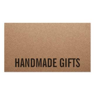 Rustikale moderne braune handgemachte Pappe Visitenkarten