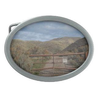 Rustikale Nevada-Gebirgsgürtelschnalle Ovale Gürtelschnallen