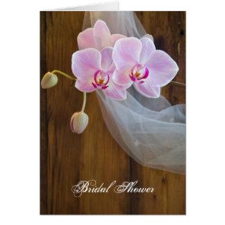 Rustikale Orchideen-Eleganz-Brautparty-Einladung Karte