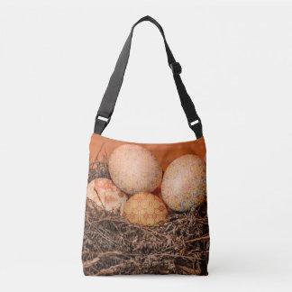 Rustikale Ostereier im Nest Tragetaschen Mit Langen Trägern