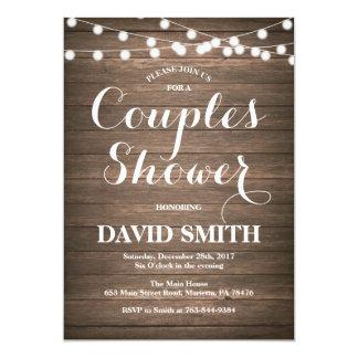Rustikale Paar-Duschen-Einladungs-Karte 12,7 X 17,8 Cm Einladungskarte