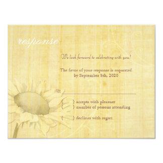 Rustikale Papyrus-Sonnenblume-Blumenhochzeit UAWG Karte