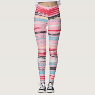 Rustikale Pastellanschläge horizontal Leggings