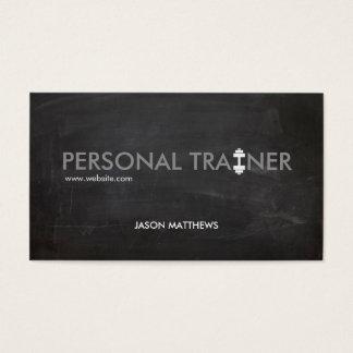 Rustikale persönliche Trainerdumbbell-Logo-Fitness Visitenkarten