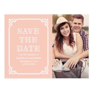 Rustikale Postkarte des Land-Spant- Save the Date