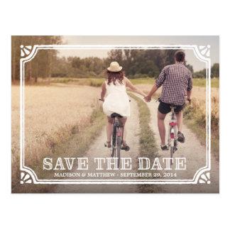 Rustikale Postkarte des Spant-| Save the Date