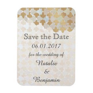 Rustikale Romance Hochzeit | Save the Date Eckiger Magnet