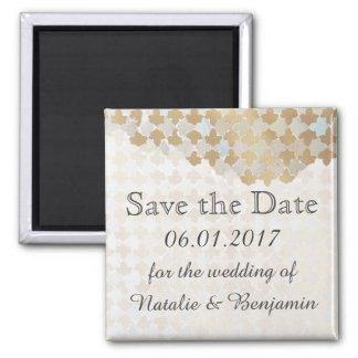 Rustikale Romance Hochzeit | Save the Date Quadratischer Magnet