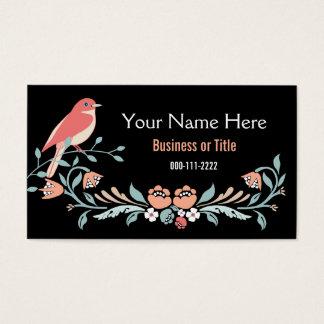 Rustikale rosa und blaue mit BlumenBlumen Visitenkarte