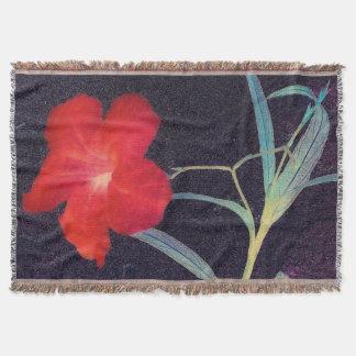 Rustikale rote Blumen-Brise Decke