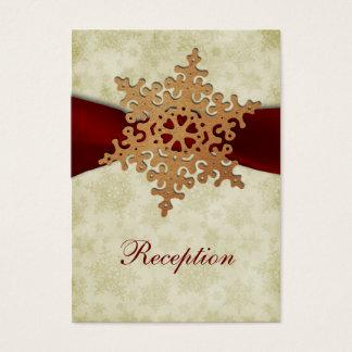 Rustikale rote Schneeflocken, Visitenkarte