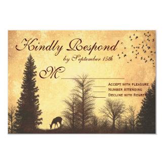 Rustikale Rotwild in Baum-Land-Hochzeit UAWG Karte