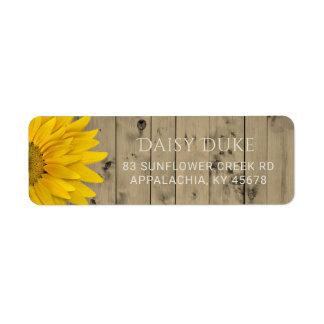 Rustikale Scheunen-hölzernes Sonnenblume-Land-Chic