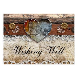 Rustikale Scheunen-Land-Hochzeit, die wohle Karten Visitenkartenvorlage
