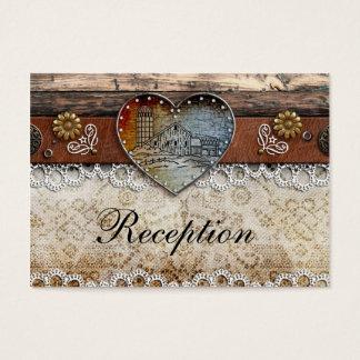 Rustikale Scheunen-Land-Hochzeits-Empfangs-Karten Visitenkarte