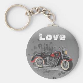 Rustikale Schmutz Motorcyle Radfahrer-Hochzeit Schlüsselanhänger