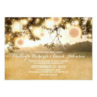 Rustikale Schnur beleuchtet romantische 12,7 X 17,8 Cm Einladungskarte