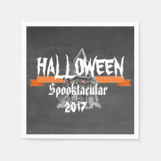 Rustikale Servietten Tafel-Halloweens Spooktacular