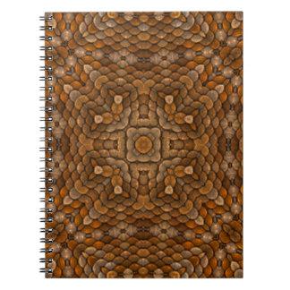 Rustikale Skala-Vintages Kaleidoskop-Notizbuch Spiral Notizblock