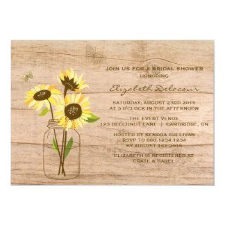 Rustikale Sonnenblume-Brautparty-Einladung 12,7 X 17,8 Cm Einladungskarte