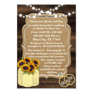 Rustikale Sonnenblume-hölzerne Lichter, die Karte