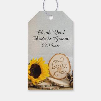 Rustikale Sonnenblume-WaldGastgeschenk Geschenkanhänger