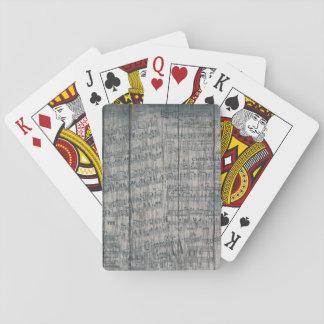 rustikale Spielkarten des