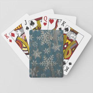 rustikale Spielkarten des Schneeflocke