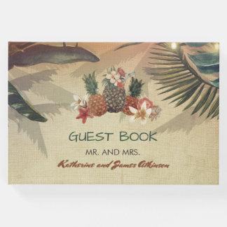 Rustikale tropische Strand-Hochzeit Gästebuch