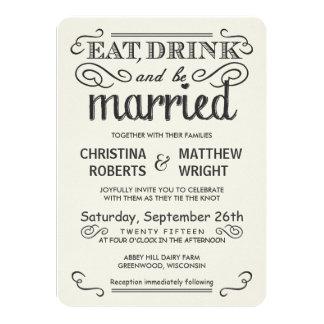 Rustikale Typografie gerundete Wedding Einladungen