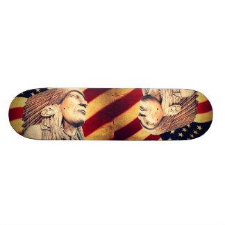 Rustikale USA-Flagge patriotischer amerikanischer 20,1 Cm Skateboard Deck