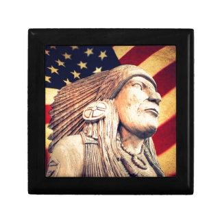 Rustikale USA-Flagge patriotischer amerikanischer Geschenkbox