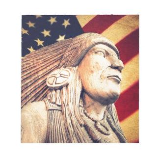 Rustikale USA-Flagge patriotischer amerikanischer Notizblock